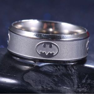 Other - Silver stainless steel Batman logo ring
